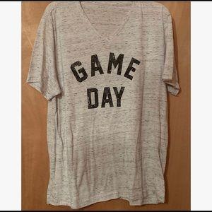 Game Day Heathered Grey Tee